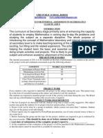 CBSE Math IX X 20 Marks Distribution Performa