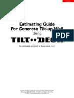 Tilt-Deck Estimating Guide