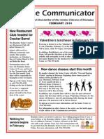 Communicator Senior Newsletter - February 2014