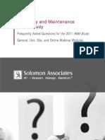 2011 RAM Study Participant FAQs