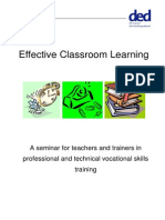 Effective Classroom Learning -Vocational