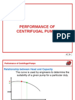 Performance of Centrifugal Pumps