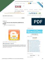 Como criar um menu drop-down (multinível) no Blogger ~ Visual Dicas