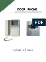 User Manual of  Door Phone for Villa