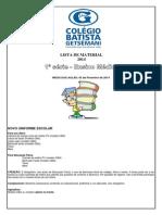 lista de material 2014 . 1ª Série