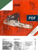 Stihl 026 Bedienungsanleitung.pdf