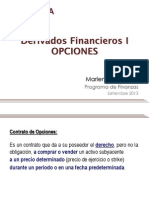 Derivados Financieros I - Sesión II Opciones