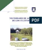 Necessidades de Agua de Los Cultivos