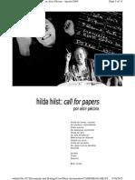 Hilda Hilst Call For Papers, por Alcir Pécora- Agosto-2005
