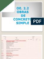 Obras de Concreto Simple