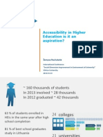 Accessibility in Higher Education is it an aspiration?