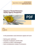 Aspects of Social Dimension