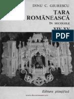 Dinu Giurascu Romania in Secolele 14-15