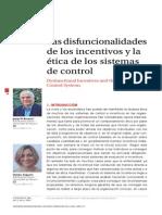 Las disfuncionalidades de los incentivos y la ética de los sistemas de control