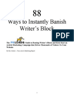 Banish Writers Block