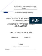 CATALOGO DE APLICACIONES DE COMUNICACIÓN