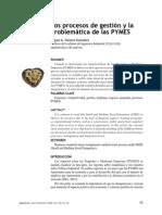 Los Procesos Gestion y la problemáticas de las pymes