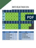 Jadual Waktu Kelas Tahun 3 2014