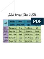 JADUAL BERTUGAS TAHUN 3 2014