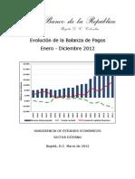 Balanza de Pagos IV-Trim-2012