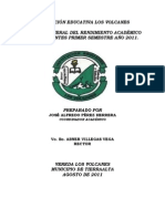 Informe Del Rendimiento Academico i Semestre 2011