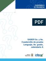 Prueba de Lenguaje - Grado 9 Calendario a, 2009