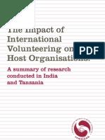 Impact of International Volunteering Comhlamh 2007