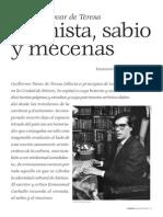 Guillermo Tovar de Teresa. Cronista, Sabio y Mecenas