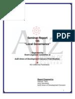 AJIZ Seminar Report on Local Governance-2009!07!31