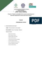 A31-67 Memoria Del Taller Sobre Identificacion de Recursos Naturales y Culturales en Cuviac