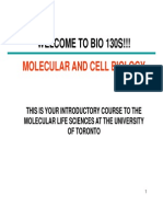 Notes for BIO130, University of Toronto