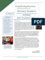 5 Literacy Leaders Newsletter