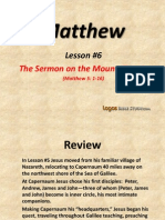 6. The Sermon on the Mount, Part 1
