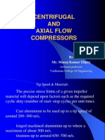 UNIT-V Centrifugal and Axial Flow Compressors