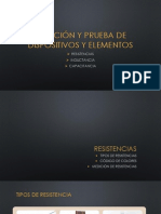 MEDICIÓN Y PRUEBA DE DISPOSITIVOS Y ELEMENTOS, RESISTENCIA , CAPACITANCIA E INDUCTANCIA