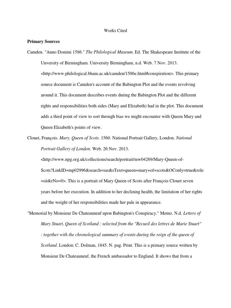 babington plot letter