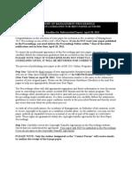 Aom Proceedings Guidelines 2011