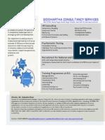 SCS Brief Profile for Training
