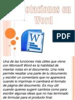 Anotaciones en Word