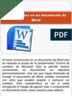 Correcciones en Un Documento de Word
