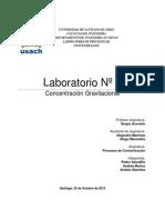 Informe Laboratorio 3 Concentracion Gravimetrica