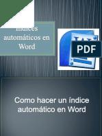 Índices automáticos en Word