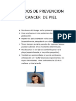 Cuidados de Prevencion de Cancer de Piel