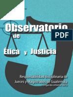 SEGUNDO INFORME OBSERVATORIO DE ÉTICA Y JUSTICIA