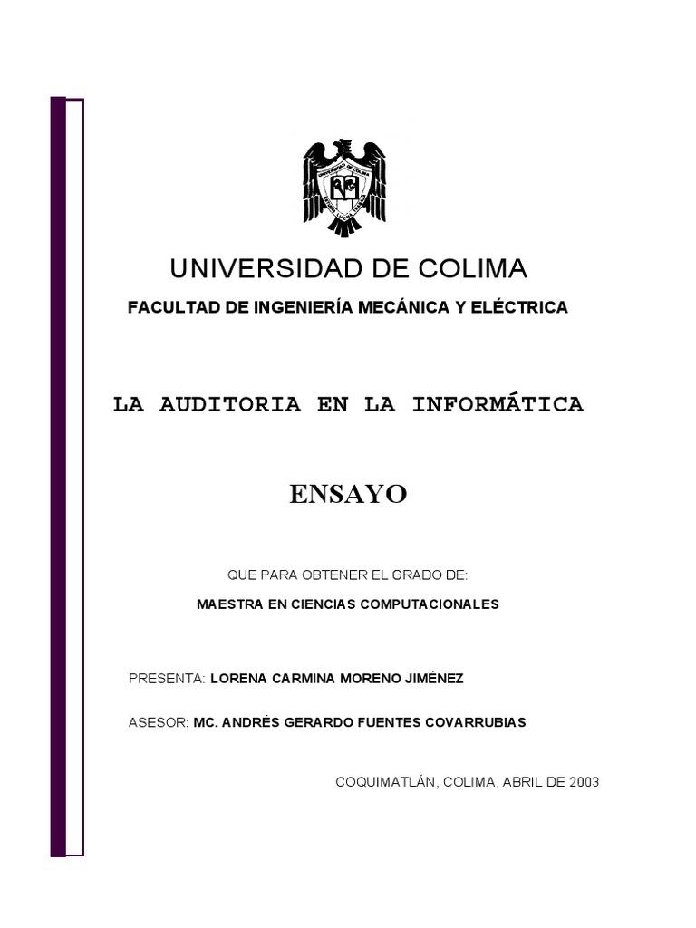 Auditoria Informatica - Tesis