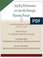 Integrating KPI Inti Strategic Planning Process