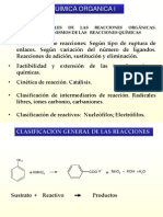 Unidad 6 Clasificacion de Las Reacciones Organicas