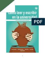 Cómo leer y escribir en la universidad (ÍNDICE desarrollado)