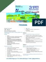Programa Final Exposición Pública 31 de Enero