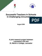 Successful Teachers in Schools in Challenging Circumstances